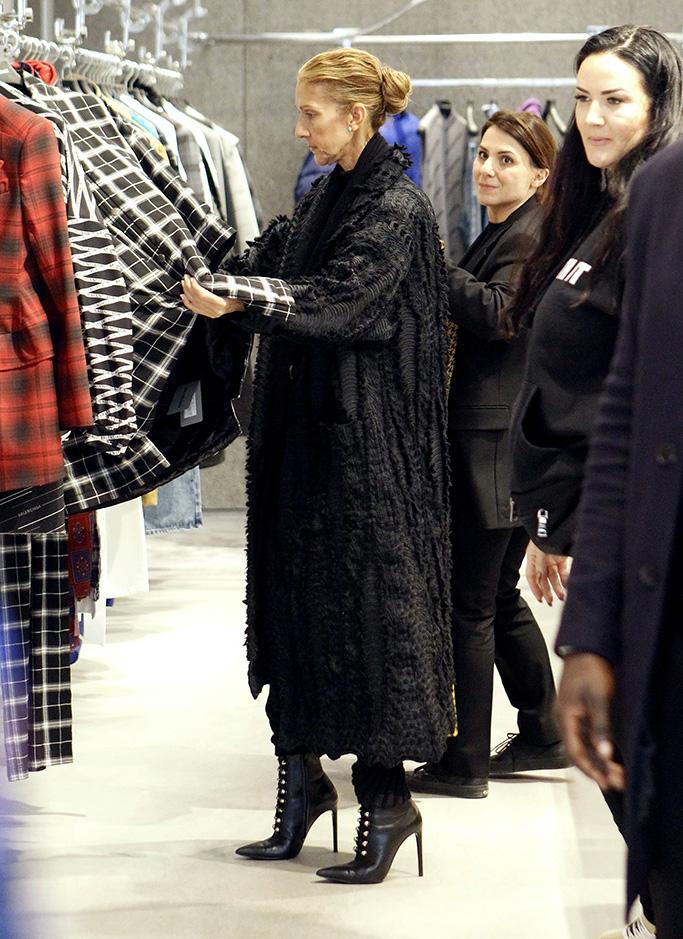 Celine Dion at BalenciagaCeline Dion shopping at Balenciaga, Paris, France - 01 Feb 2019