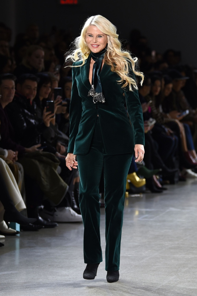 christie brinkley, new york fashion week, elie tahari fall 2019
