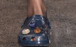 crocs, christopher kane, embellished, runway, comfort