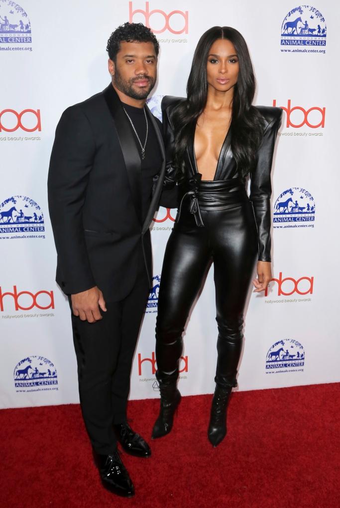 Ciara and Russell Wilson, hollywood beauty awards