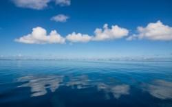 ocean, clouds