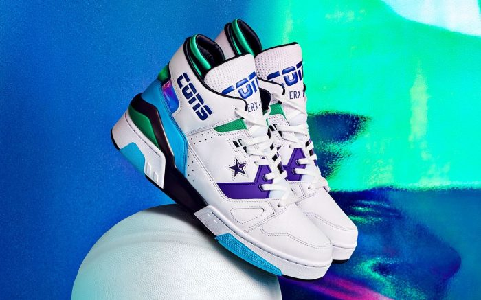 Don C x Converse ERX 260 Jewel, sneakers, white with purple and blue accents