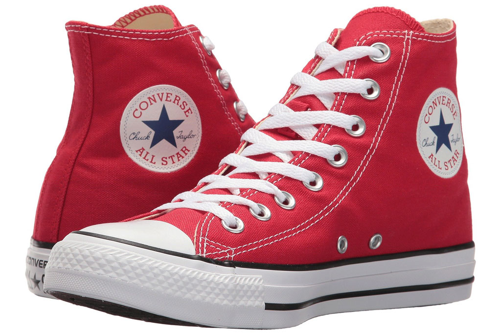 Converse Chuck Taylor All Star Core Hi, Red Sneakers for Women