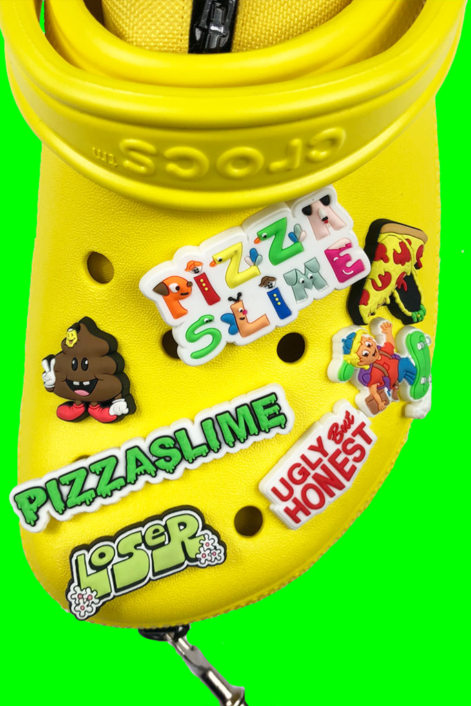 Pizzaslime x Crocs bag, jibitiz