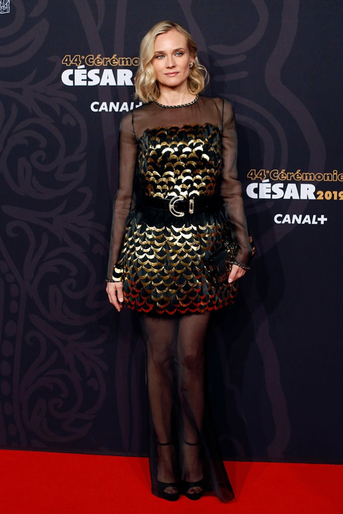 Diane Kruger , chanel, red carpet, celebrity style, pre fall 2019, arrives at the 44th Cesar Film Awards ceremony, in ParisCesar Awards, Paris, France - 22 Feb 2019