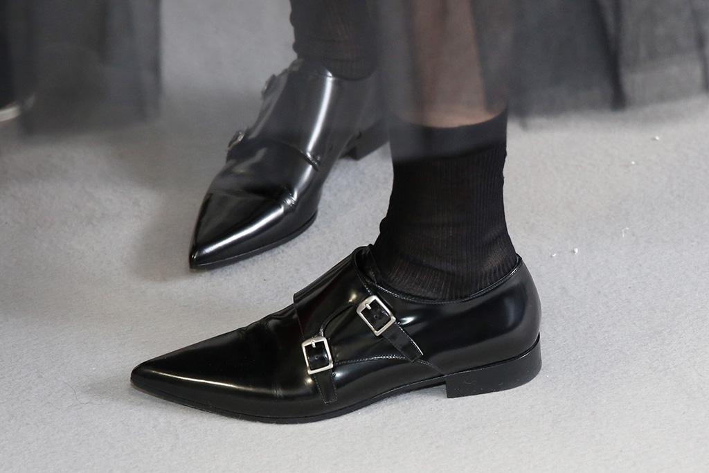 Models backstage, shoe detailChristian Dior show, Backstage, Fall Winter 2019, Paris Fashion Week, France - 26 Feb 2019