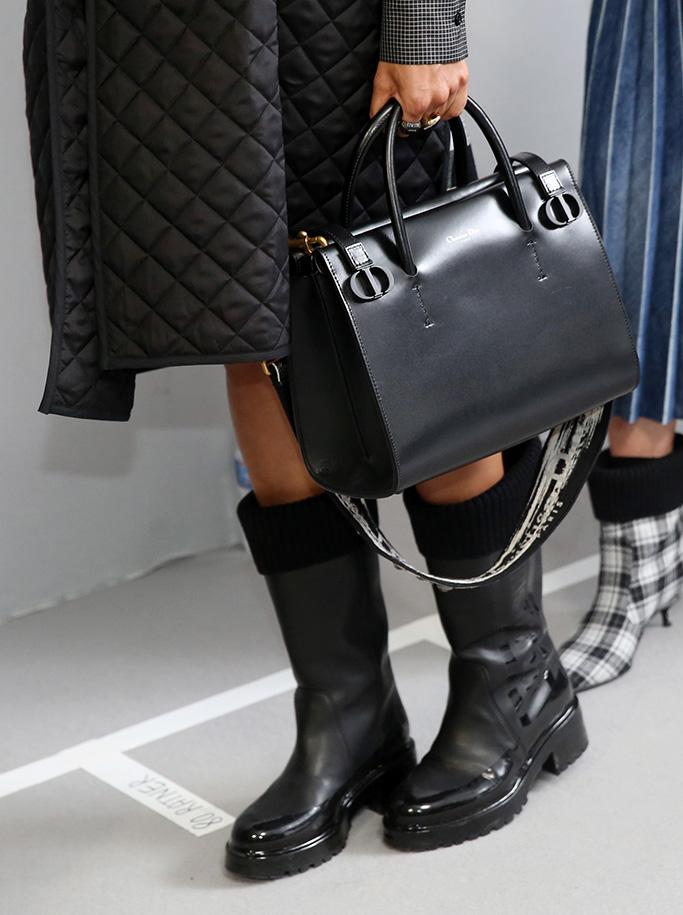Models backstage, bag detailChristian Dior show, Backstage, Fall Winter 2019, Paris Fashion Week, France - 26 Feb 2019