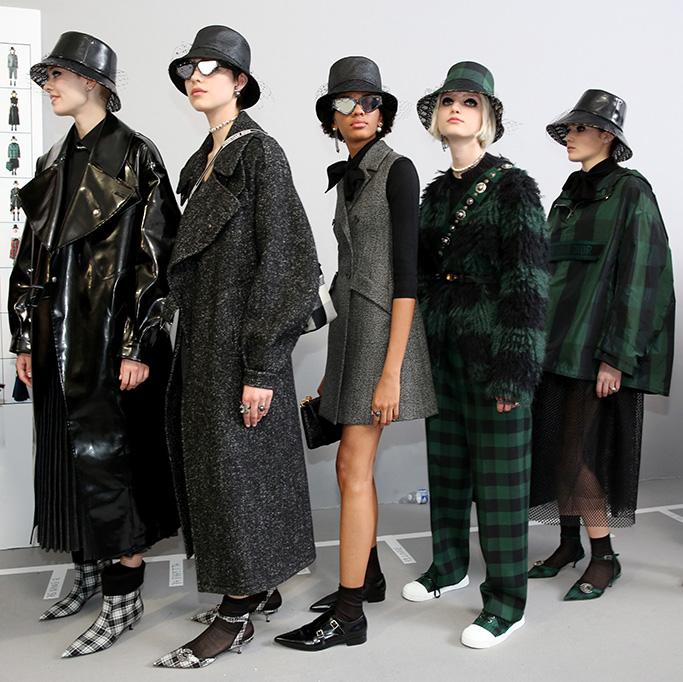 Models backstageChristian Dior show, Backstage, Fall Winter 2019, Paris Fashion Week, France - 26 Feb 2019