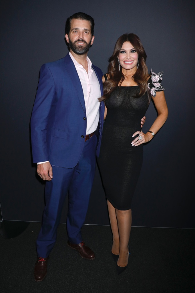 Donald Trump Jr. and Kimberly Guilfoyle in the front rowZang Toi show, Front Row, Fall Winter 2019, New York Fashion Week, USA - 13 Feb 2019, celebrity style, NYFW, don jr.