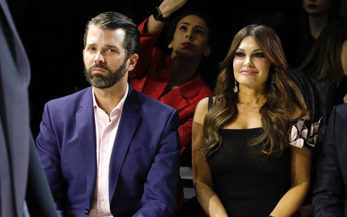 Donald Trump Jnr., Kimberly Guilfoyle in the front rowZang Toi show, Front Row, Fall Winter 2019, New York Fashion Week, USA - 13 Feb 2019