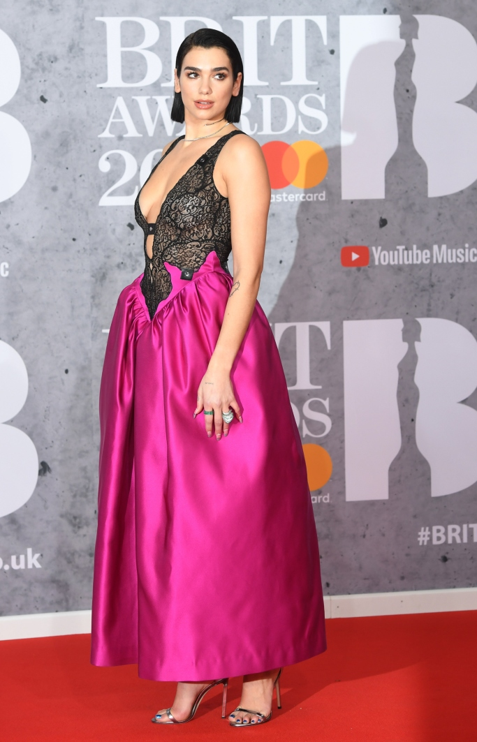 dua lipa, brit awards, Christopher Kane fall 2019
