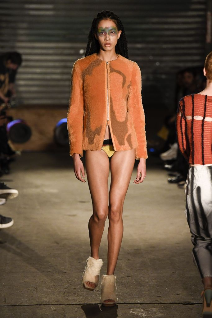 Model on the catwalkEckhaus Latta show, Runway, Fall Winter 2019, New York Fashion Week, USA - 09 Feb 2019