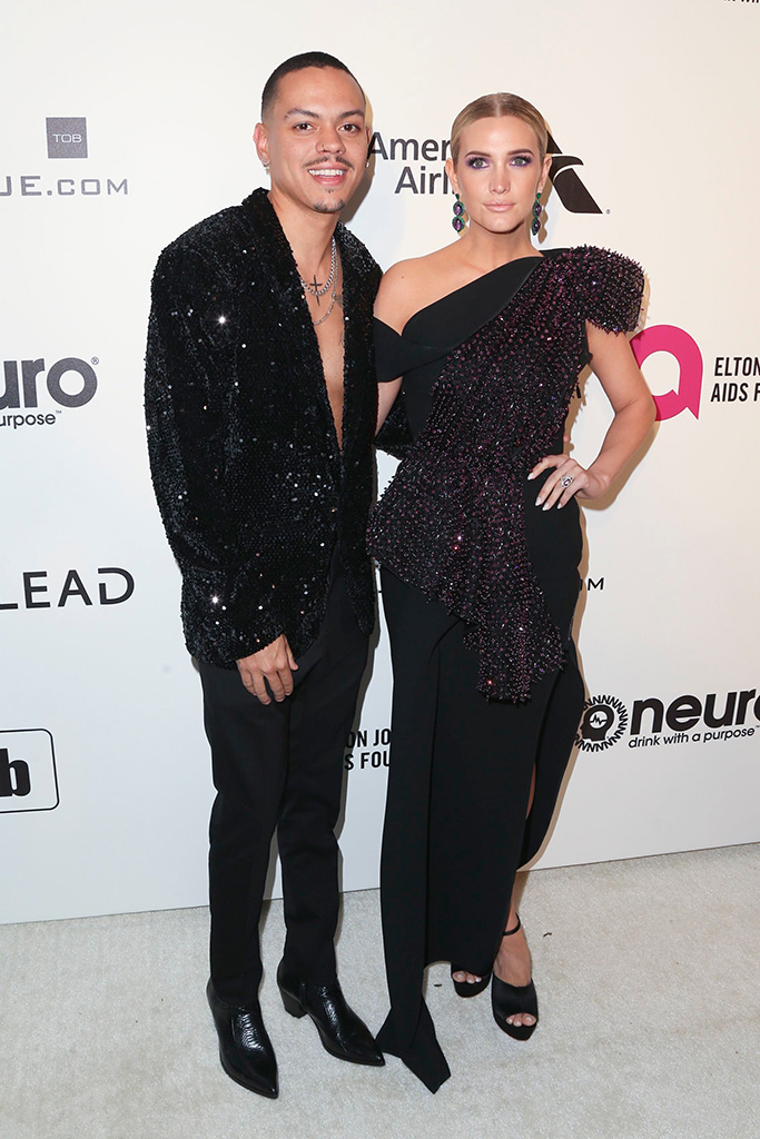 Evan Ross and Ashlee SimpsonElton John AIDS Foundation Academy Awards Viewing Party, Los Angeles, USA - 24 Feb 2019