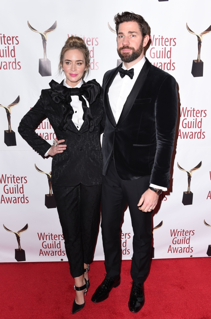 Emily Blunt and John Krasinski, writer's guild awards, dolce and gabbana, jimmy choo