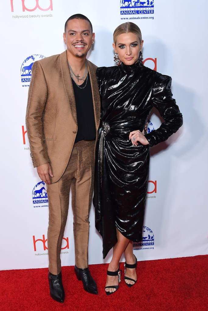 Evan Ross and Ashlee Simpson, hollywood beauty awards