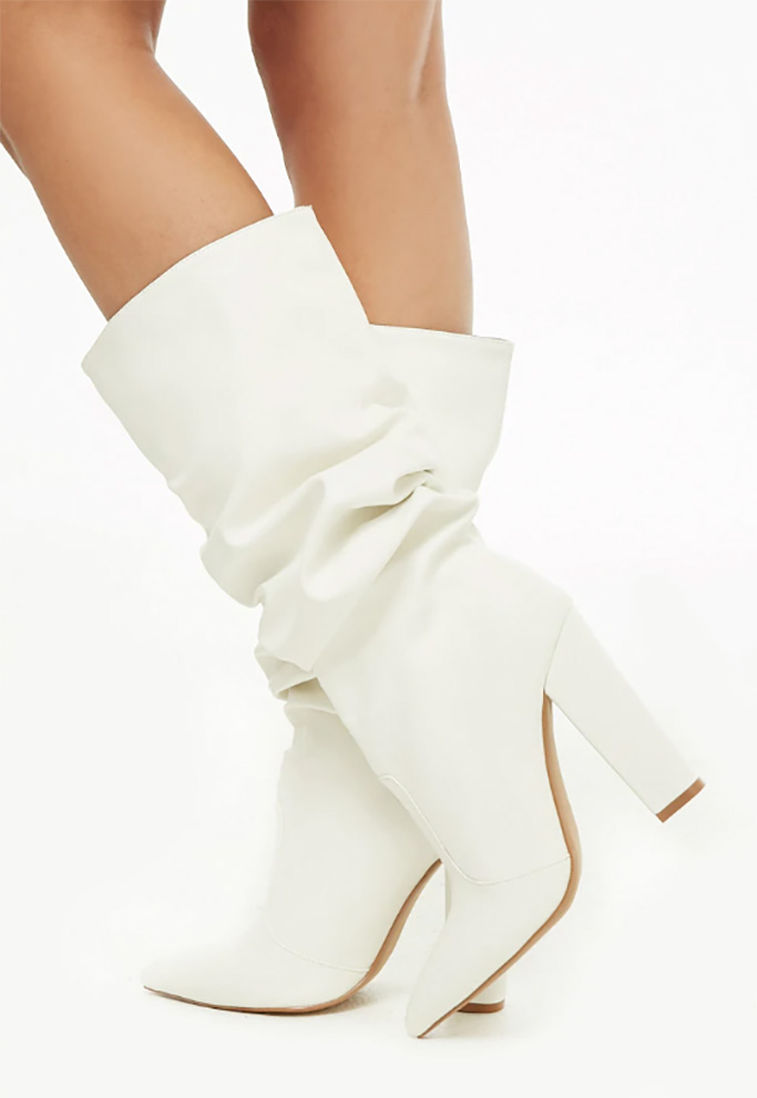 Shoe Republic Slouchy Faux Leather Boots
