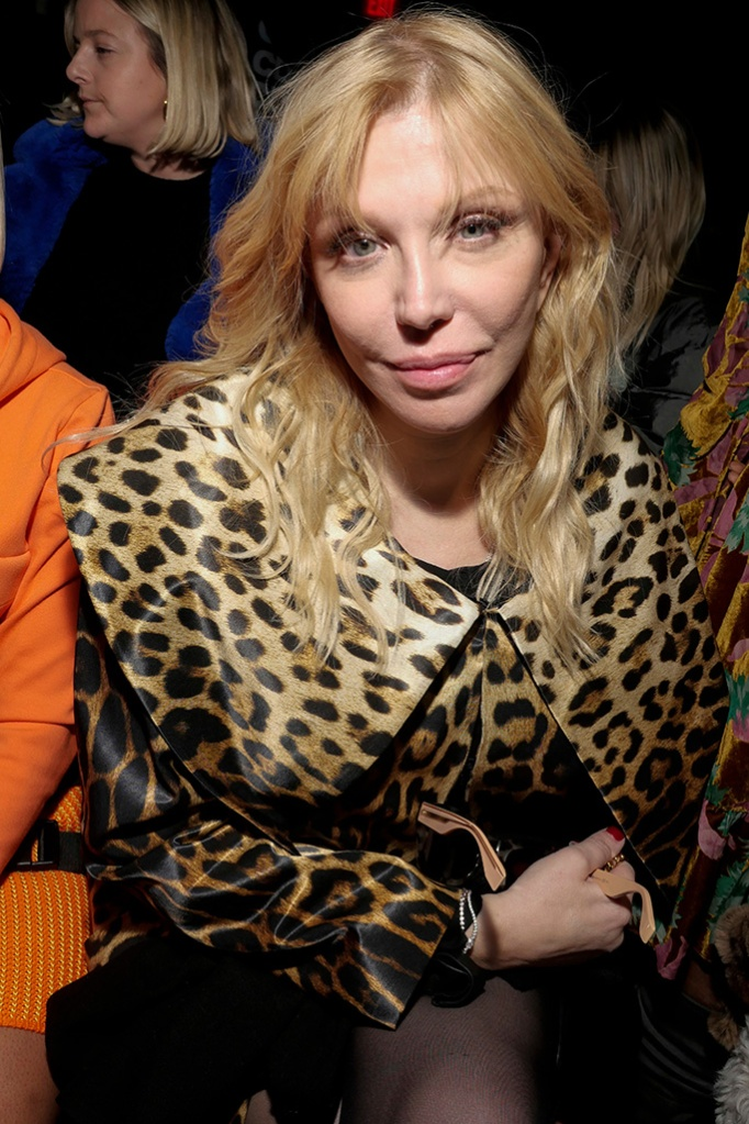 Courtney Love in the front rowJeremy Scott show, Front Row, Fall Winter 2019, New York Fashion Week, USA - 08 Feb 2019