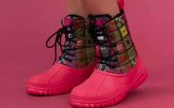 GCDS fall 2019, pink boots