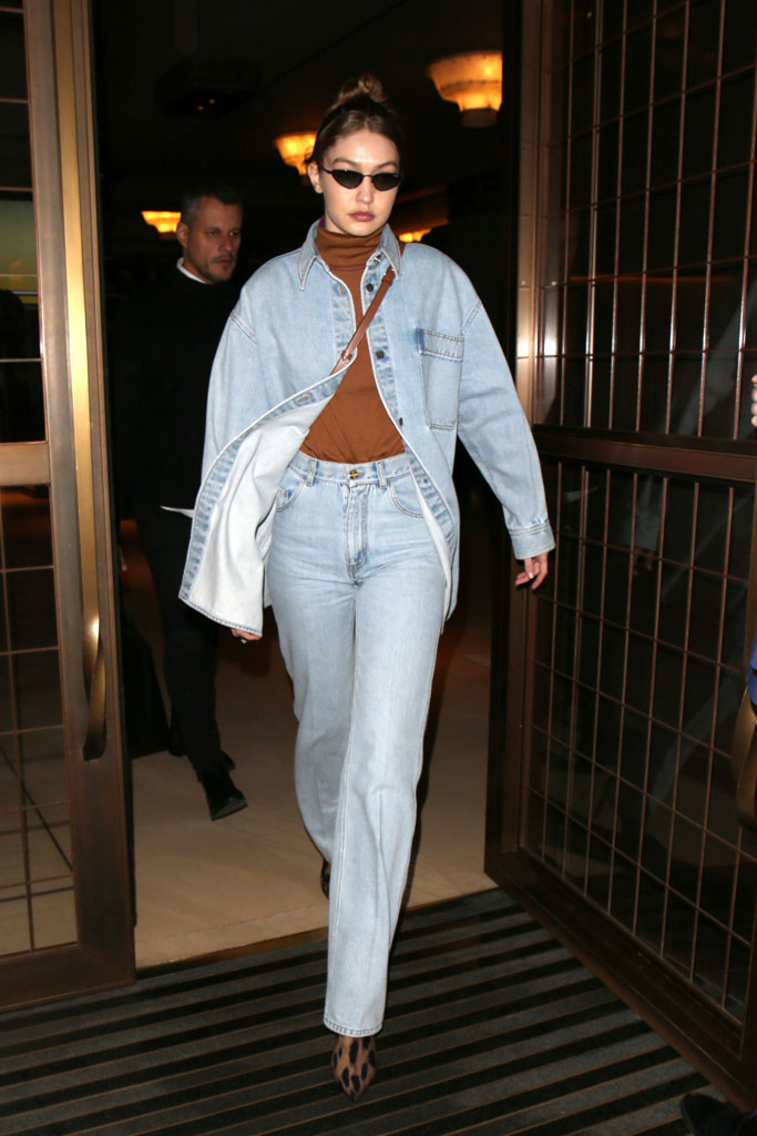 Gigi Hadid, london fashion week, street style, fall 2019, leopard print boots
