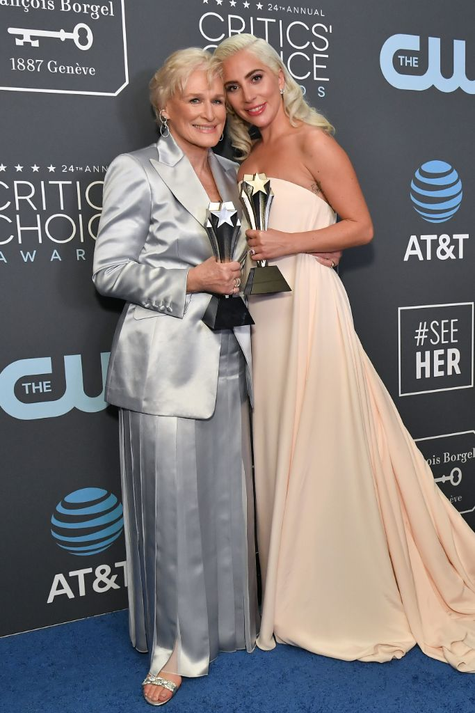 lady-gaga-glenn-close-2019-red-carpet-critics-choice-awards