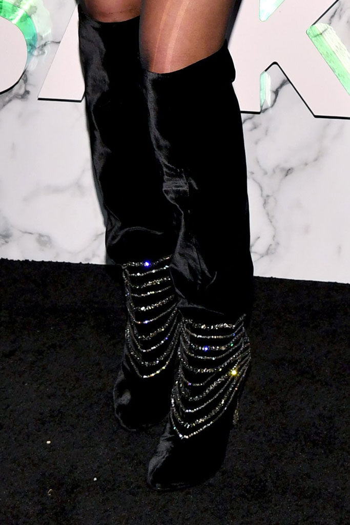 Halsey, knee-high crystal-embellished boots, saks fifth avenue main floor opening