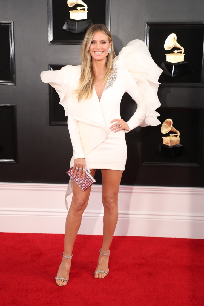 Heidi Klum at the 2019 Grammy Awards red carpet.