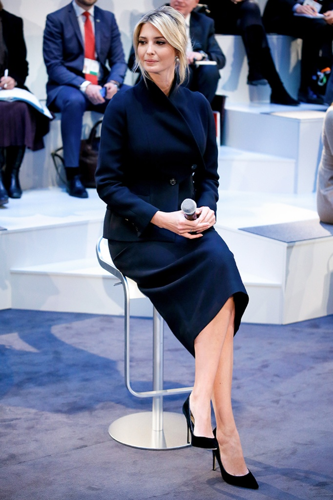 Ivanka Trump, black skirt suit, pumps, high heels, daughter and advisor to US President Donald J. Trump, attends the 55th Munich Security Conference (MSC) in Munich, Germany, 16 February 2019. From 15 to 17 February, politicians, various experts and guests from all over the world will discuss global security issues in their annual meeting.55th Munich Security Conference, Germany - 16 Feb 2019