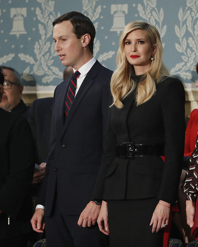 Ivanka Trumpivanka trump, celebrity style, red lipstick, state of the union, black dress, (R) and Jared Kushner (L) arrive before US President Donald J. Trump delivers his second State of the Union address from the floor of the House of Representatives on Capitol Hill in Washington, DC, USA, 05 February 2019.US President Donald J. Trump delivers his second State of the Union address, Washington, USA - 05 Feb 2019