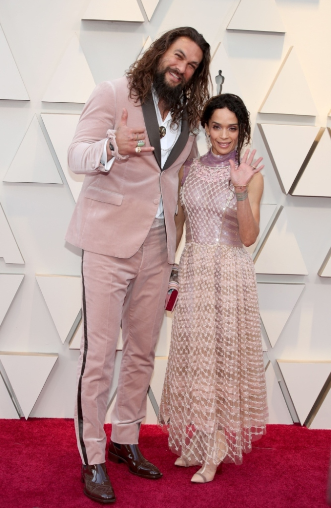 Jason Momoa, lisa bonet, oscars, academy awards 2019, red carpet, celebrity style