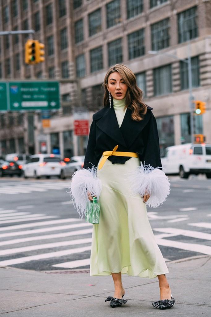Jessica Wang, mules, celebrity style, street style, nyfw, fall 2019, Magda Butrym