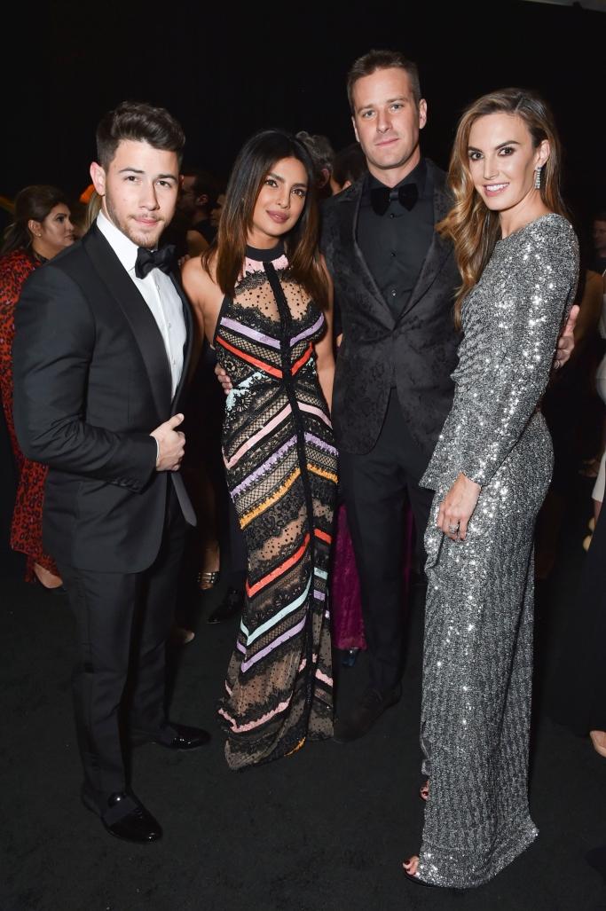 Nick Jonas, Priyanka Chopra Jonas, Armie Hammer and Elizabeth Chambers