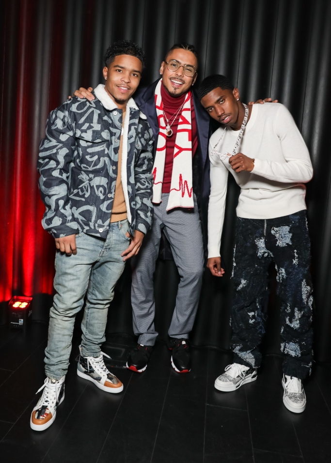justin Dior Combs, Quincy Brown, Christian Combs, new york fashion week