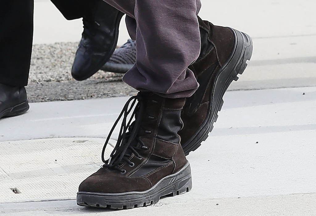 kanye west, yeezy lace-up boots