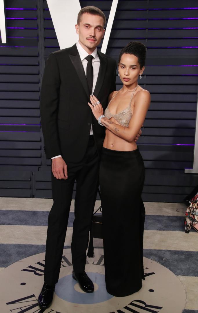 Karl Glusman and Zoe Kravitz, 2019 vanity fair oscar party