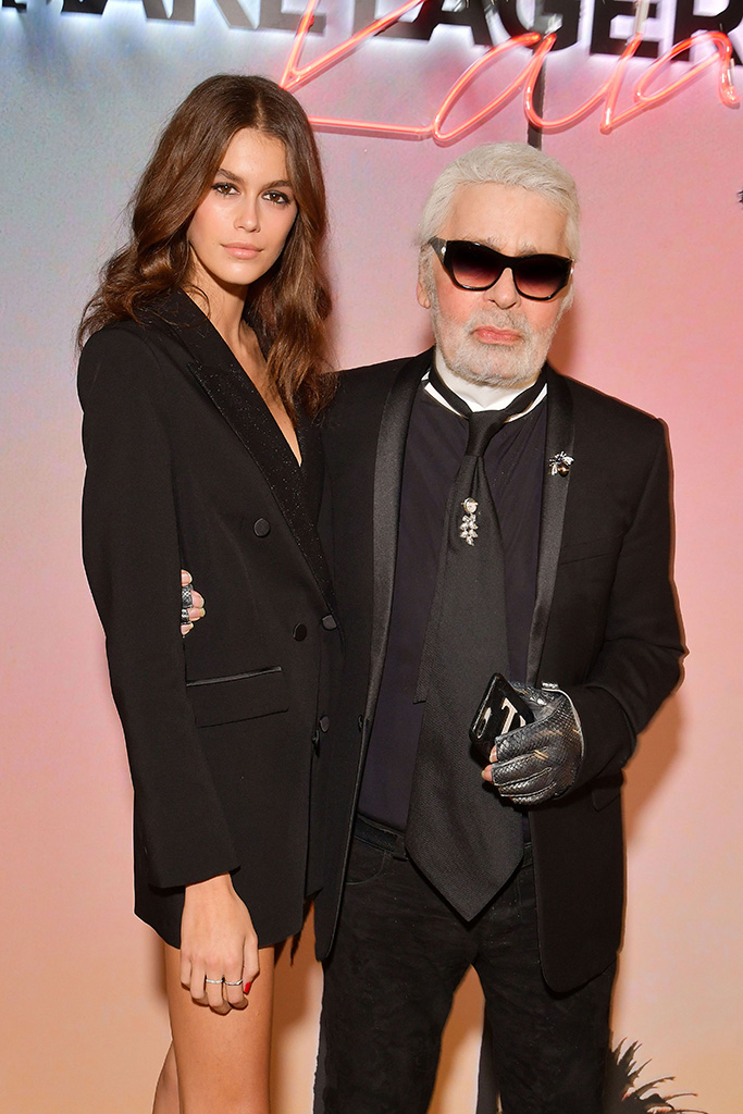 Kaia Gerber and Karl LagerfeldKarl x Kaia collaboration capsule collection, Spring Summer 2019, Paris Fashion Week, France - 02 Oct 2018
