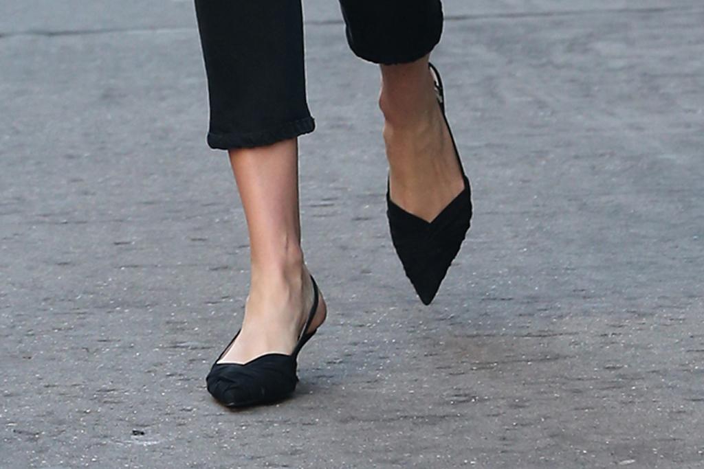karlie kloss, kitten heels