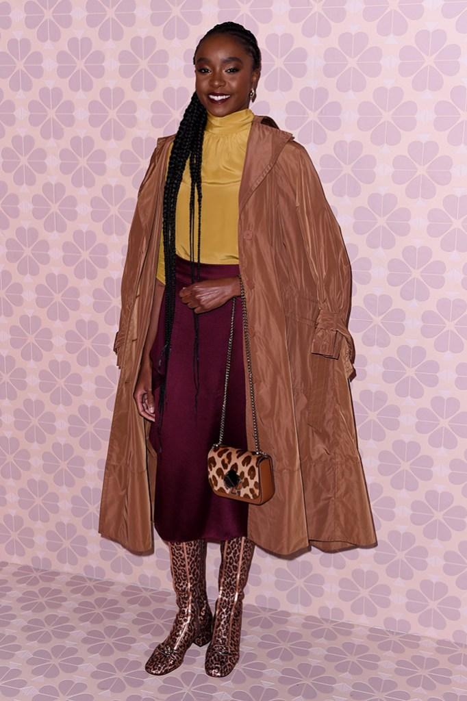 Kiki LayneKate Spade show, Arrivals, Fall Winter 2019, New York Fashion Week, USA - 08 Feb 2019