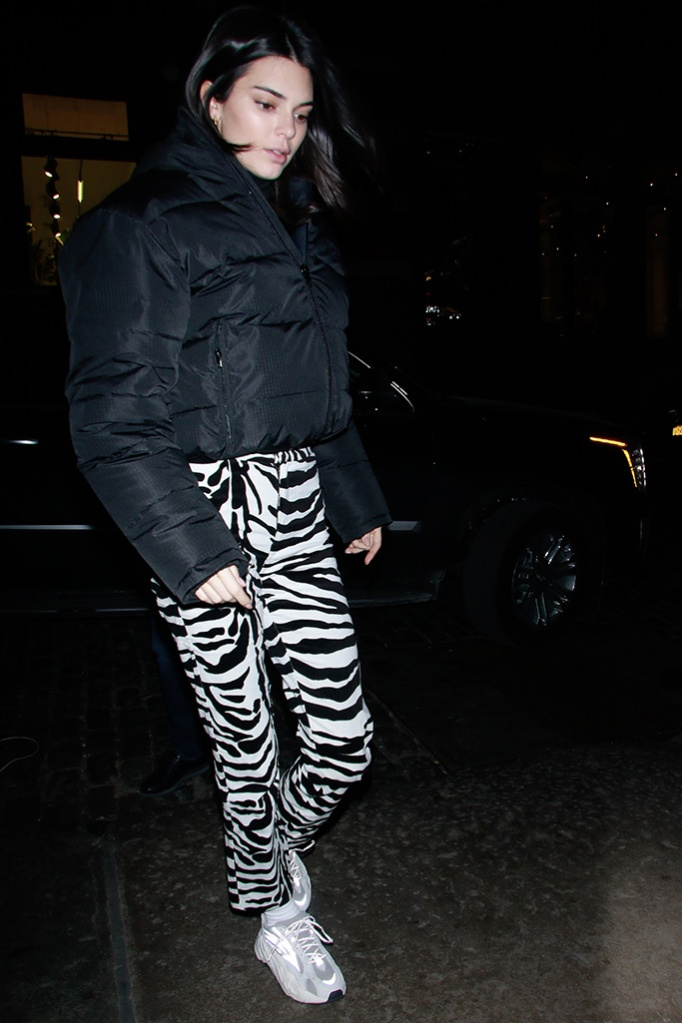 Kendall JennerKendall Jenner out and about, New York Fashion Week, USA - 11 Feb 2019 Wearing Balenciaga, Coat, Bag by By Far, Shoes By Yeezy