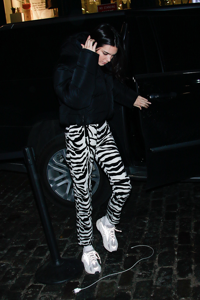 Kendall JennerKendall Jenner out and about, New York Fashion Week, USA - 11 Feb 2019Wearing Balenciaga, Coat, Bag by By Far, Shoes By Yeezy