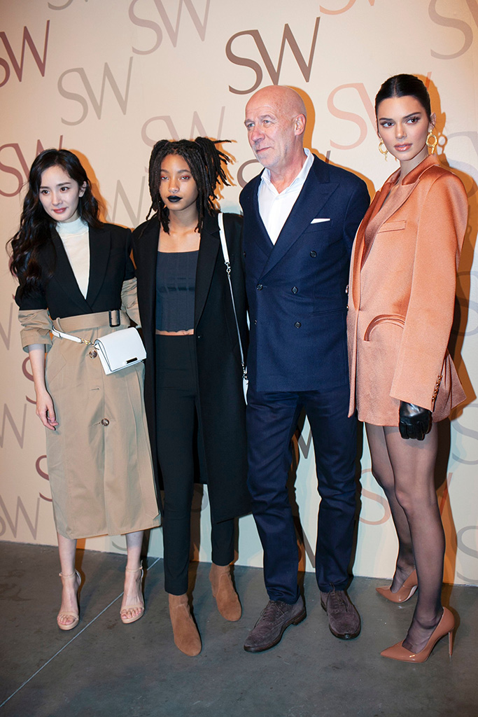 Yang Mi, Willow Smith, Eraldo Poletto, and Kendall JennerStuart Weitzman Spring 2019 Campaign Release Party, New York Fashion Week, USA - 12 Feb 2019