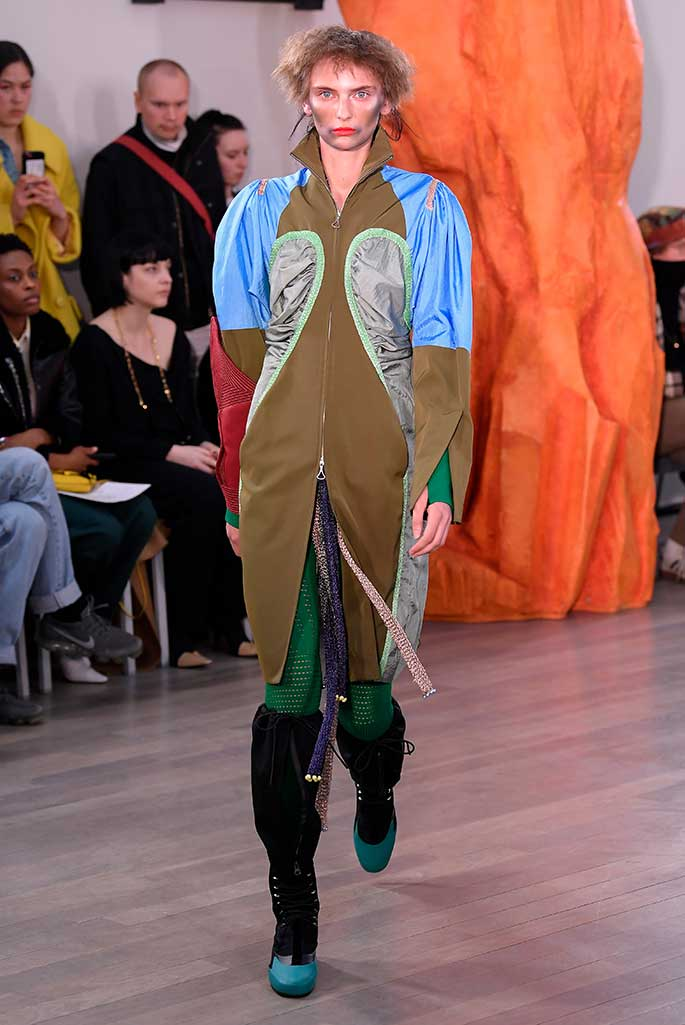 Kiko Kostadinov x Camper, London Fashion Week, fall '19.