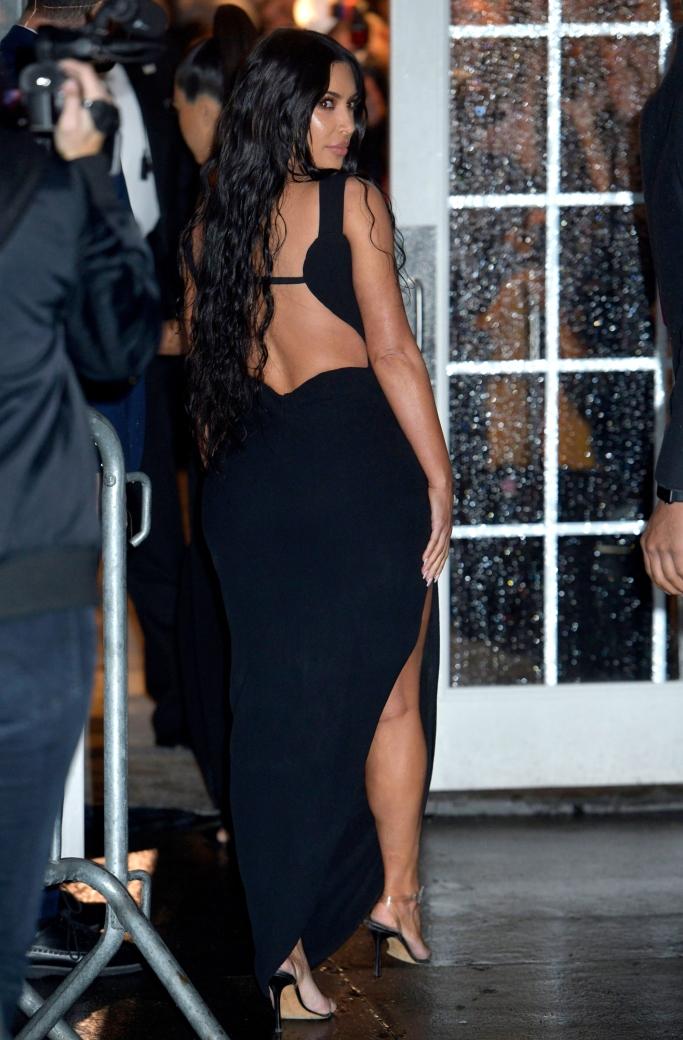 kim kardashian, versace, amfar gala 2019, clear sandals