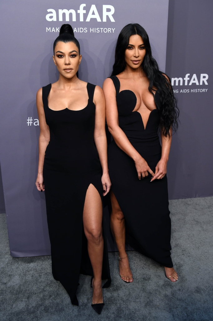 Kourtney Kardashian, kim kardashian, 2019 amfar gala, new york fashion week, versace