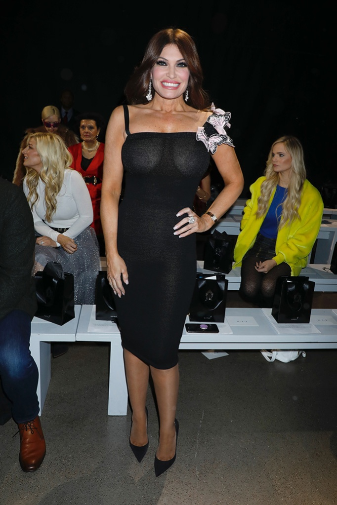Kimberly Guilfoyle, cocktail dress, pumps, butterfly, in the front rowZang Toi show, Front Row, Fall Winter 2019, New York Fashion Week, USA - 13 Feb 2019