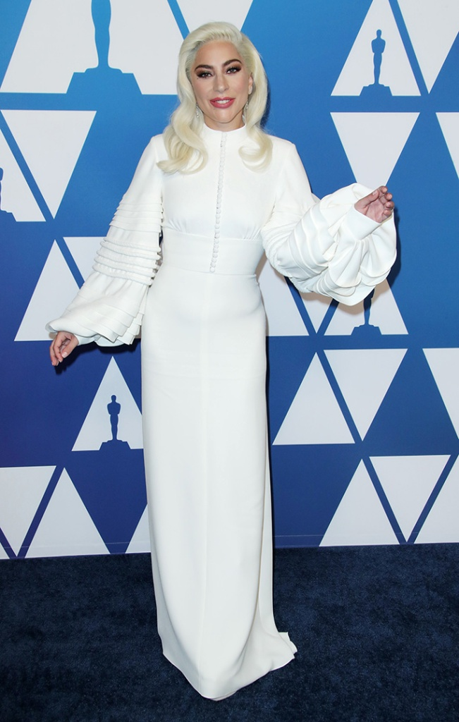 Lady Gaga, louis vuitton, red carpet, celebrity style, giuseppe zanotti, The Academy Awards Nominees Luncheon, Los Angeles, USA - 04 Feb 2019Wearing Louis Vuitton