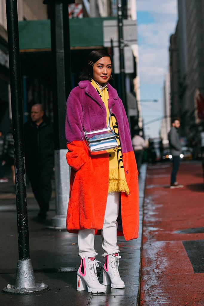 Laureen Uy in Prada, nyfw, street style, fall 2019