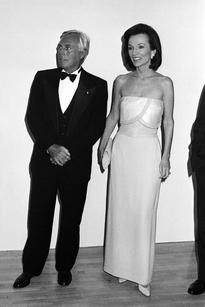 Giorgio Armani and Lee RadziwillGiorgio Armani Party, Los Angeles