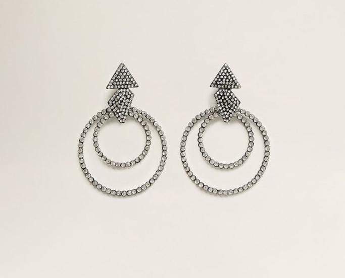 Mango rhinestone crystal earrings.