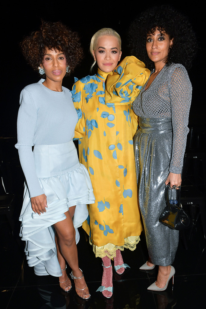 Kerry Washington, Rita Ora and Tracee Ellis Ross in the front row Marc Jacobs show, Front Row, Fall Winter 2019, New York Fashion Week, USA - 13 Feb 2019