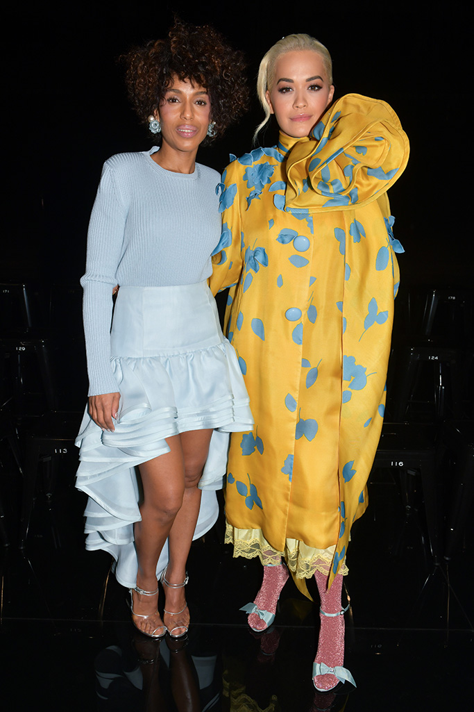 Kerry Washington and Rita Ora in the front rowMarc Jacobs show, Front Row, Fall Winter 2019, New York Fashion Week, USA - 13 Feb 2019